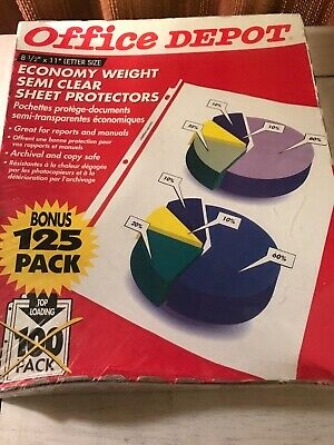 Office Depot Economy Weight Sheet Protector 125 Count Letter Size 8 12 X 11