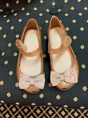 Mini Melissa 'Ultragirl Sweet' Pink Mary Jane Flat 11 M