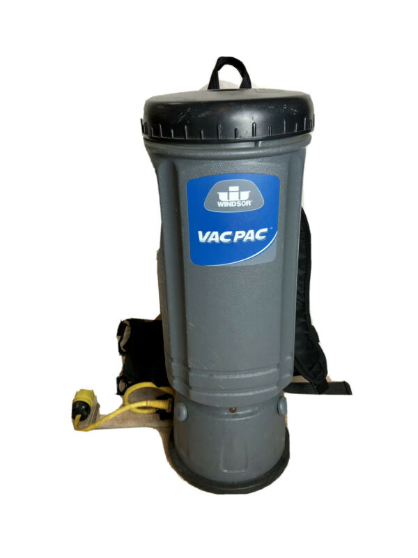 Windsor VacPac Backpack Commercial Vacuum 10 Quart Excellent Working Condition