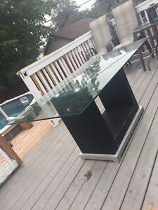 Dining set, table glass and 6 chair