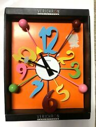 KIRCH 2006 VERICHRON 1823 RETRO MULTICOLOR WALL CLOCK BALLS NUMBERS NEW W/DEFECT