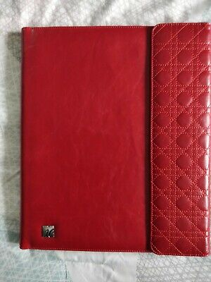 Franklin Covey Ie 8.5x11 Note Pad Red Faux Leather Planner Binder