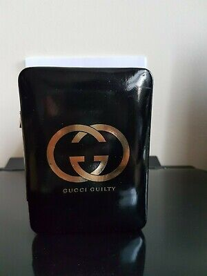 Gucci Guilty Black Gold Logo Toolbox Clutch Case Rare Vintage
