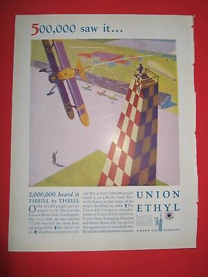 1928 SCBN Ad National Air Races Mines Field Los Angeles Union Oil Tire Plants