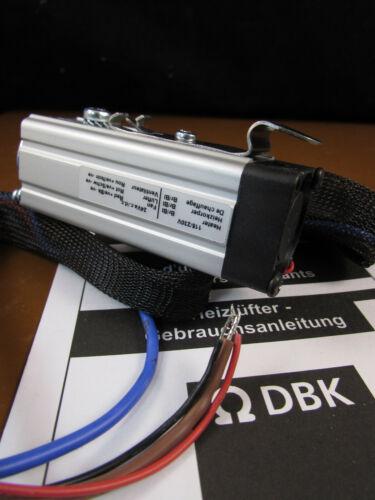 DBK FGC0526.2R DIN Rail Enclosure PTC Fan Heater 30W 115-230VAC Heater 24V ac/dc