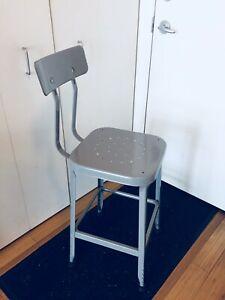 VINTAGE INDUSTRIAL BAR STOOL KITCHEN ISLAND COUNTER HEIGHT