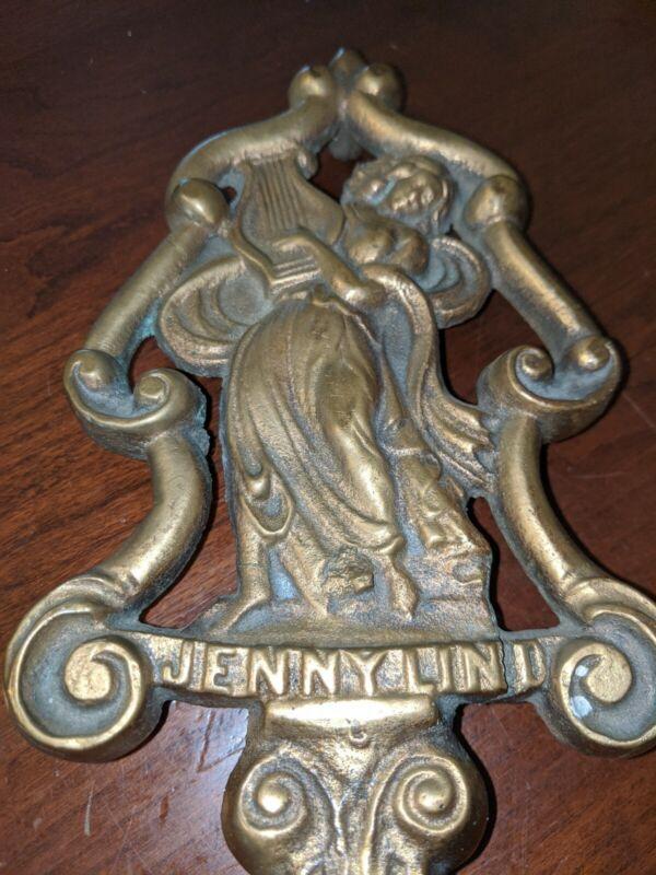 Antique Jenny Lind Trivet Cast Brass Sad Flat Iron