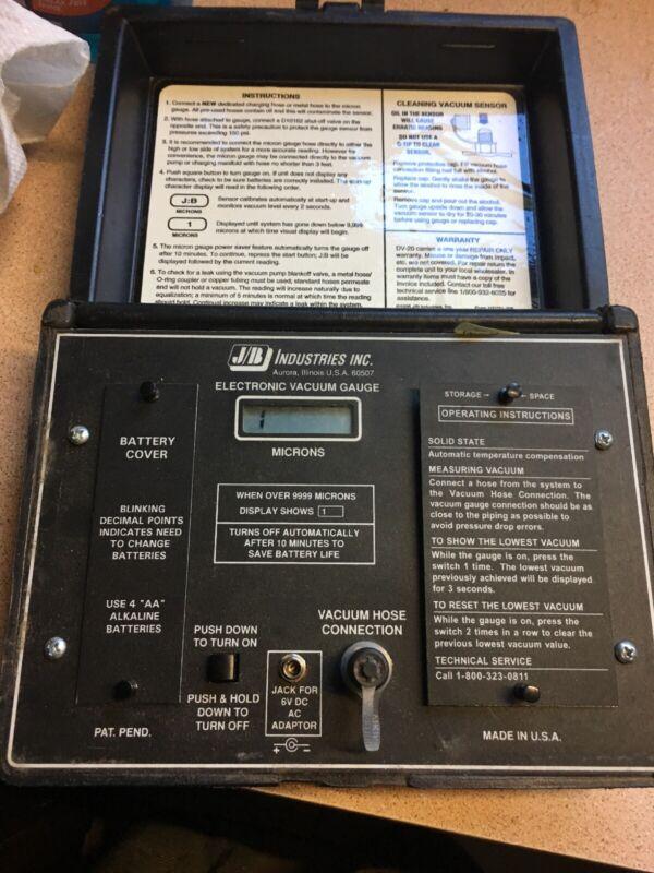 JB Industries DIGITAL VACUUM GAUGE BATTERY/ELECTRIC DV-20*USA Made