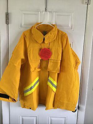 Firefighter Wildlandbrush Jacket With Reflective Stripes Size 2xl Barrier Wear