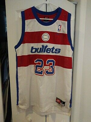 Michael Jordan NBA Washington Bullets Nike Swingman Jersey Knockoff Men's Large