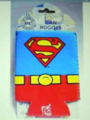 SUPERMAN UNIFORM S LOGO DC COMICS SUPERHERO SODA POP CAN HUGGIE NEW