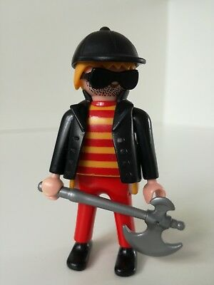 Playmobil Figure - Sunglassed Thief with axe (Thieves Sunglasses)
