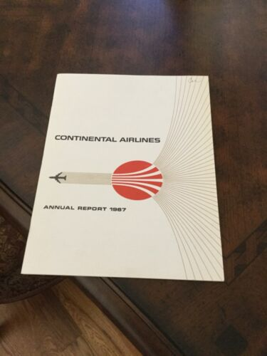 Continental Airlines 1967 annual report