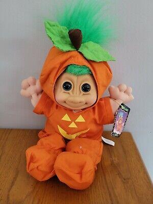 "Troll Kidz Punkin 12"" Stuffed Plush Halloween Jack-O-Lantern Costume Russ w/Tag"