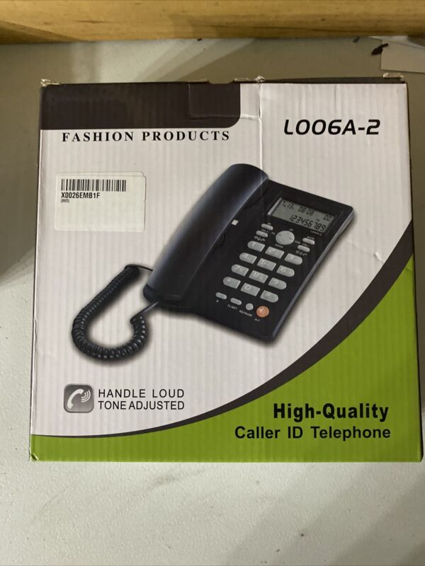 Fashion Products L006A-2 High Quality Caller iD Wired Black Telephone CF211