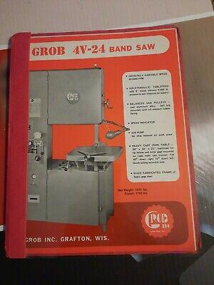 Grob 24 Metal Band Saw Bandsaw With Welder Catalog