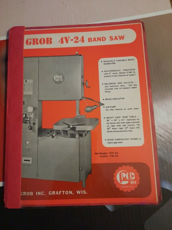 "Grob 24"" Metal Band Saw Bandsaw with Welder Catalog"