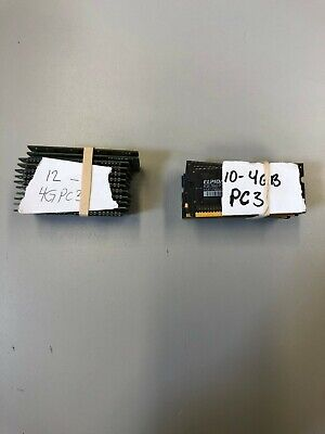 LOT OF 10 - Pc3 DDR SO DIMMS 4GB PC 3 - MIXED BRANDS PULLS FOR LAPTOPS