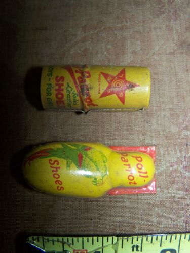 Poll Parrot Shoes Promotional Advertising Clicker & Whistle Tin Litho