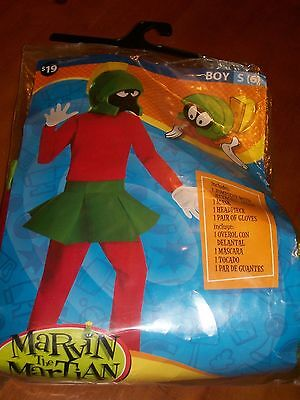 MARVIN the MARTIAN Halloween Costume Size Boys SMALL Sz 6 LOONEY TUNES