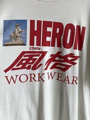 """HERON PRESTON HORSE GRAPHIC """"WORK WEAR"""" T-SHIRT SIZE XXL"""