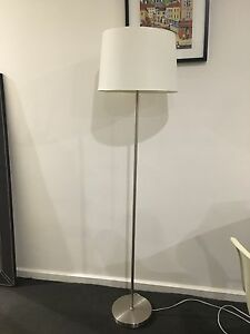 Beacon lighting Modern white and chrome floor lamp South Yarra Stonnington Area Preview