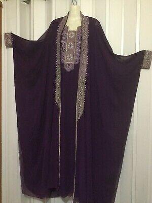 2 pcs evening ABAYA & Jacket coat Ethnic Cardigan maxi jalabiyah bisht embroider