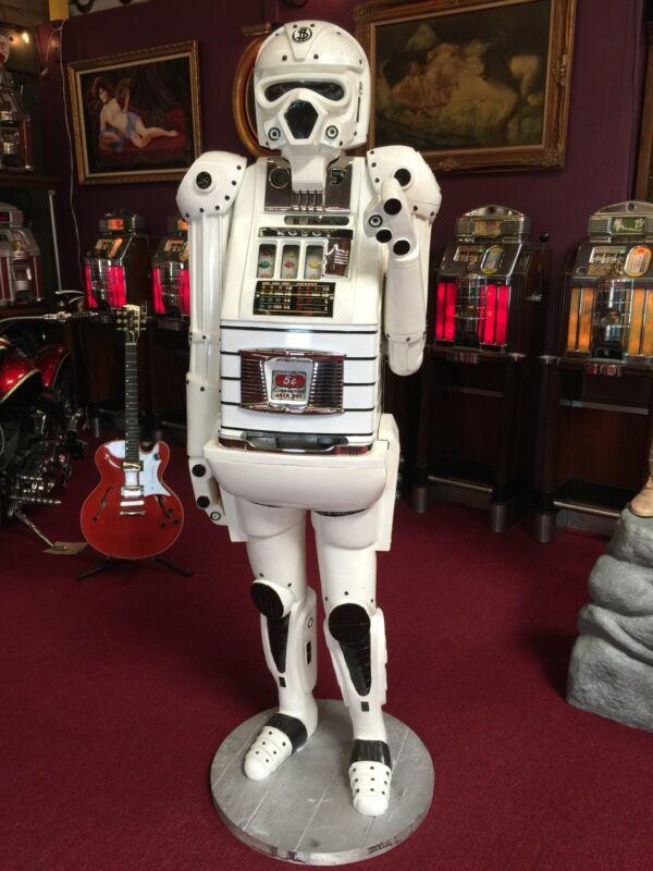 "1947 Slot Machine Mills Star Wars Tribute Hi-top 5 Cent One Arm Bandit  ""video"""