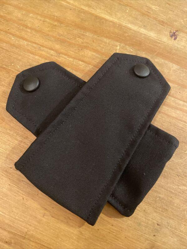 Ex Police Black Jacket Epaulettes. Used. 1571.