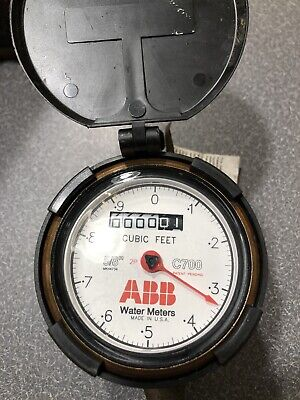 Nos Abb C700 58x34 Direct Read Water Meter