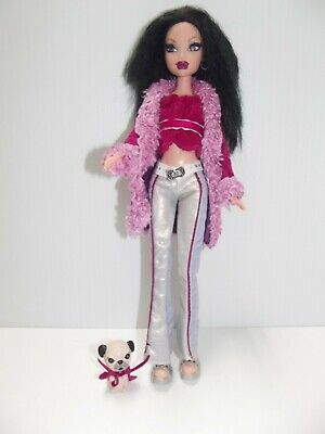 My Scene Barbie 2004 Masquerade Madness Rock Star Nolee Doll with Dog HTF