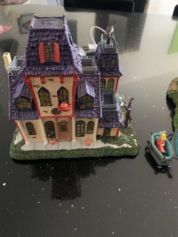 The Simpsons Haunted Mansion Hawthorne Halloween Village Rare