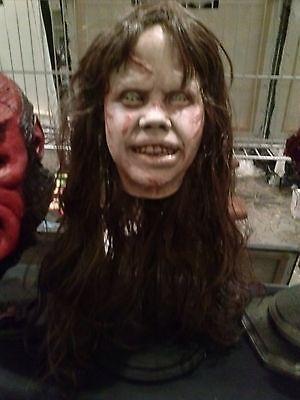 EXORCIST Regan Linda Blair horror resin BUST on stand
