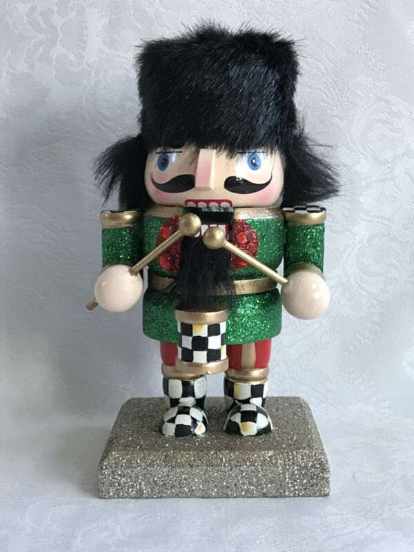 Mackenzie Childs Inspired Hand Painted Courtly Check (Qty 1) Nutcracker #3 NEW