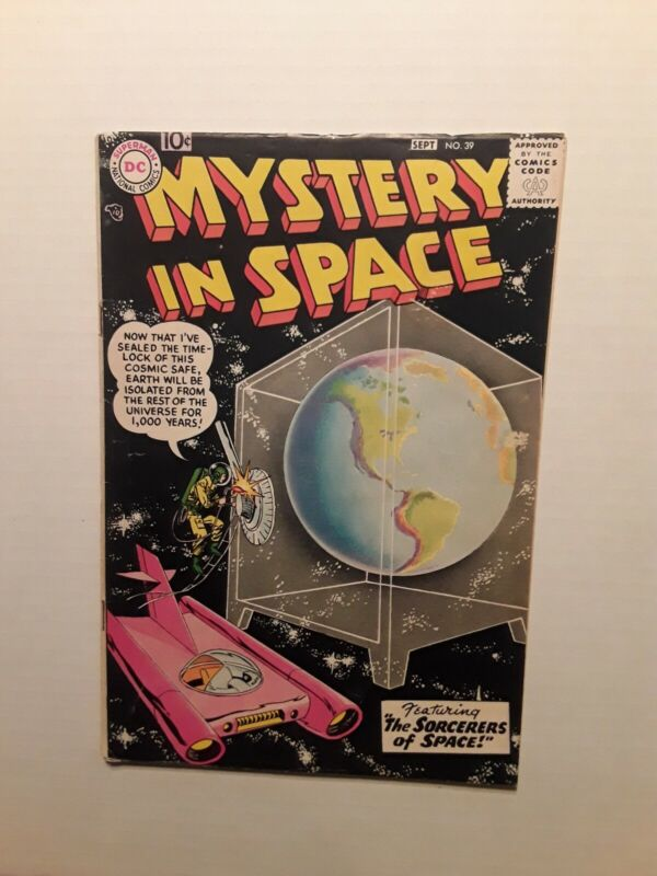 Mystery in Space #39, 1957 FN cond. DC Comics.