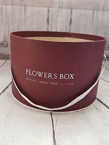flowers box round cardboard florist