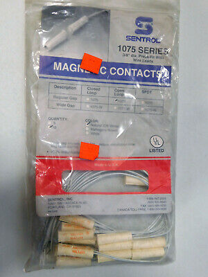 Sentrol Series 1075 Series Magnetic Contacts 1071 Open Loop 38 Dia Lot Of 10