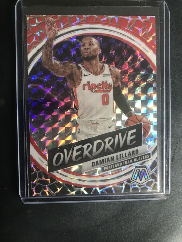 Basketball NBA 2019-20 Panini Mosaic Give and Go #7 Damian Lillard #7 NM Near Mint Blazers