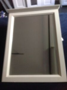 2 white timber hanging mirrors Eastlakes Botany Bay Area Preview