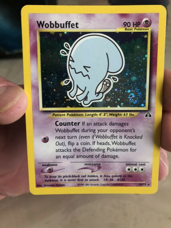 Pokemon WOBBUFFET 36//119 UNCOMMON REVERSE HOLOFOIL NM CARD  PHANTOM FORCES