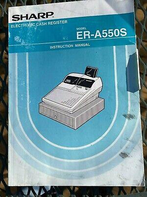 Sharp Er-a550s Cash Register Oem Instruction Manual