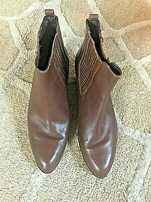J.Crew Chelsea Boots, $80.00, Brown Leather, size 8, new never worn outside
