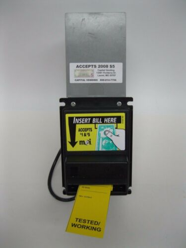 Mars MEi VN 2511 115v Dollar Bill Acceptor validator takes $1 and $5 vending