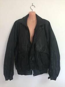 Leather jacket, sporty style, size XL