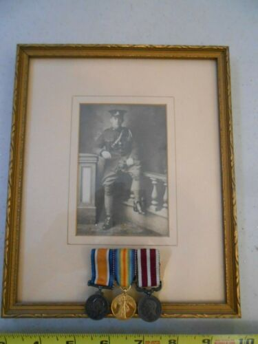 RARE SET 3 BRITISH WW1 WAR MEDAL 1914-1919 VICTORY MEDAL WITH ORIG SOLDIER PHOTO