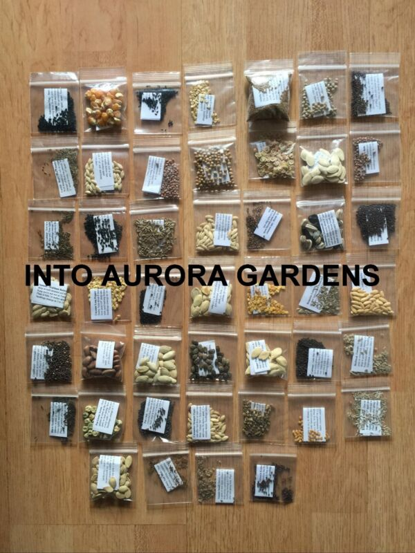 46 HEIRLOOM VEGETABLE SEEDS TOTAL GARDEN SEED KIT NON HYBRID NON GMO ORGANIC