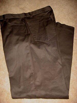 Mens Brown CALVIN KLEIN Stretch Khakis Pants 31 x 30