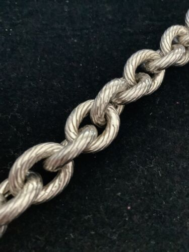 HSN XL Oval Link Chain Bracelet 8 Small Toggle Massive - $201.00