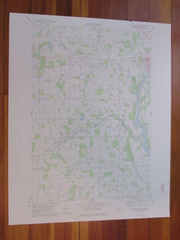 Little Falls West Minnesota 1978 Original Vintage USGS Topo Map