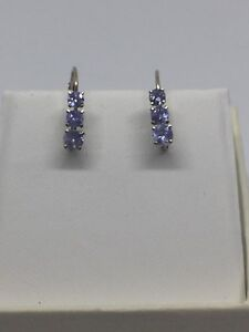 14 kt gold Earring with 0.65 ct Tanzanite